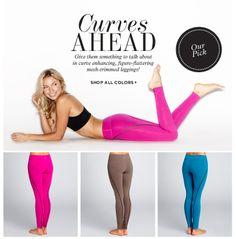 Embrace your curves in figure-flattering mesh-trimmed leggings from BEYOND YOGA!  #yogapants #leggings