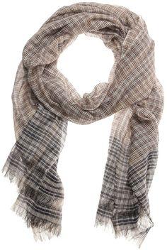 Faliero Sarti Brown Kenzy Cotton Silk Scarf