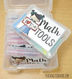 Create your own math toolboxes with these FREE printable math tools and other suggested math supplies. These are perfect to use during guided math stations and centers. Guided Math Stations, Fun Math, Math Math, Math Fractions, Math Games, Lego Math, Math Help, Math Activities, Math Tutor