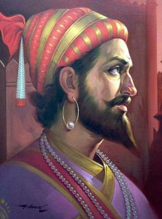 Shivaji was an Indian warrior King. Shivaji Maharaj Painting, Indian Freedom Fighters, Ancient Indian History, Instagram Dp, Shivaji Maharaj Hd Wallpaper, Hd Wallpapers 1080p, Indian Art Paintings, Oil Portrait, God Pictures