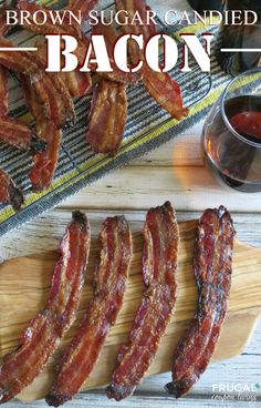Easy and Delicious Brown Sugar Candied Bacon Recipe plus a homemade brown sugar recipe. This recipe is DIVINE!