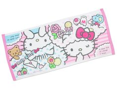 Hello Kitty Face Towel Colorful Dream Sanrio Made in JAPAN
