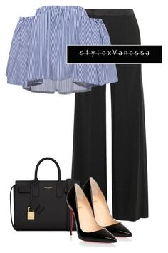 Untitled #739 by vanessa-antar on Polyvore featuring polyvore fashion style Roberto Cavalli Christian Louboutin Yves Saint Laurent clothing