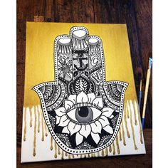 Hamsa Painting on Etsy