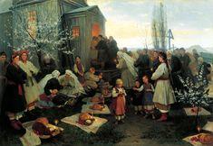 "Mykola Pymonenko, ""Easter morning prayer in Little Russia"", 1891"