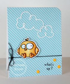Card by PS DT Michele Boyer using PS Bosom Buddy, Curly Clouds