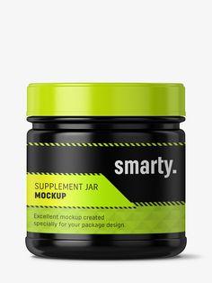 Supplement jar mockup / Glossy