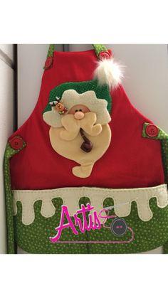 Christmas Time, Christmas Crafts, Christmas Stockings, Diy And Crafts, Santa, Holiday Decor, Christmas Aprons, Apron, Christmas Decor