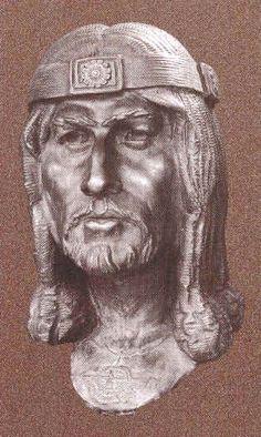 Assyrian Staues in Museums: Ashurnasirpal,assyrian king 883-859 BCE
