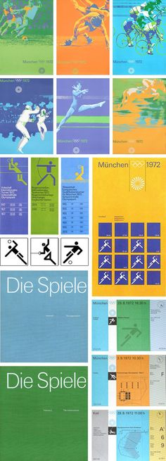 Otl Aicher for the Munich Olympics 1972. Olympics graphics identity poster.
