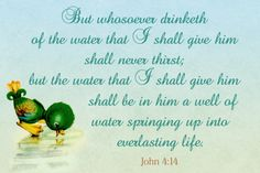 Shall never thirst Free Christian Message Card copy