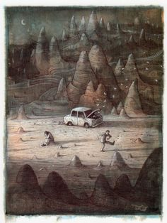 Shaun Tan (from Tales from Outer Suburbia) http://www.shauntan.net/