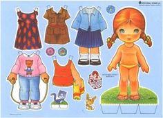 Recortables de muñecas / Paper dolls 3 - Manualidades a Raudales