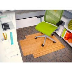 Anji Mountain Bamboo Roll-Up Chairmat. Our patented Bamboo Office Chairmats have introduced eco-friendly style to what was formerly an unattractive and purely functional accessory.