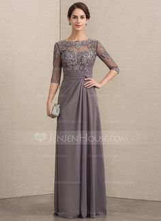 A-Line/Princess Scoop Neck Floor-Length Chiffon Lace Mother of the Bride Dress W. - A-Line/Princess Scoop Neck Floor-Length Chiffon Lace Mother of the Bride Dress With Beading Sequins - Mother Of The Bride Dresses Long, Mothers Dresses, Bride Groom Dress, Bride Gowns, Mob Dresses, Wedding Dresses, Party Dresses, Halter Dresses, Bridesmaid Dresses