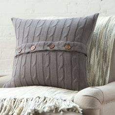 Found it at Wayfair - Clara Cable-Knit 100% Cotton Pillow Cover