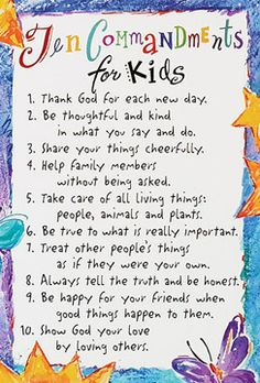 Love the ten Commandments for Kids