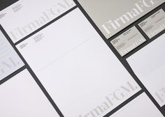 Corporate Identity for FirmaFGM designed by Clase BCN.
