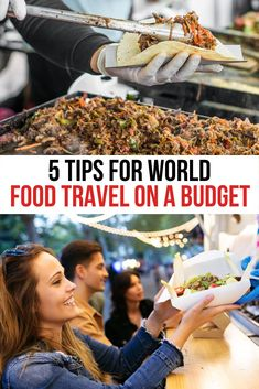 Traveling around the world and trying all that delicious can be expensive. Check out our 5 tips on how to taste the world for less. We've got so great food travel tips that will make all your journeys a little bit tastier. #FoodTravel #CulinaryTravel #BudgetTravel