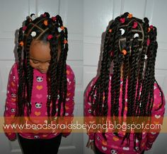 Beads, Braids and Beyond: Banded Two Strand Twist Ponytails , Cute Little Girl Hairstyles, Black Kids Hairstyles, Little Girl Braids, Girls Natural Hairstyles, Baby Girl Hairstyles, Kids Braided Hairstyles, Braids For Kids, African Braids Hairstyles, Girls Braids
