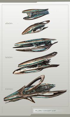 Concept ships made for Pilgrim faction © Amplitude Studios Space Ship Concept Art, Alien Concept Art, Concept Ships, Alien Spaceship, Spaceship Design, Cyberpunk, Starship Concept, Sci Fi Spaceships, Sword Design