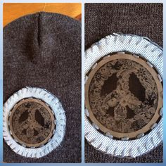 Love this super neutral super cool beanie by Hippy Spirit! Vintage denim, leather patch all sewn by hand. LOVE