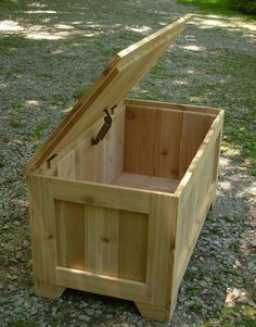 Rustic Reclaimed Cedar toy box blanket chest coffee by LuckyMargo, $140.00
