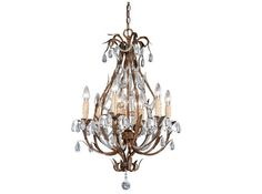 Isabella 20 Inch Pendant Gilded Umber with Crystal Drops by Vaxcel Lighting -this one is intriguing because it has 9 light bulbs in this size!