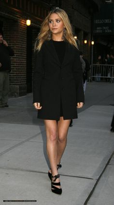 Ashley + all black = perfection                                                                                                                                                                                 More
