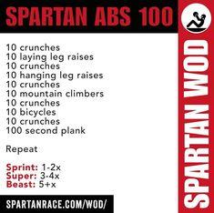 Spartan Abs 100 Kettlebell Swings, Spartan Workout, Spartan Race Training, Spartan Sprint, Spartan Life, 300 Workout, Military Training, Crossfit Wods, Workout Fitness