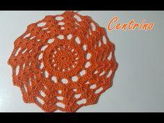 Centrino arancione all'uncinetto facile e bello - Tutorial schema uncinetto - Anerom89 - YouTube
