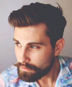 A stylish handlebar with a short beard