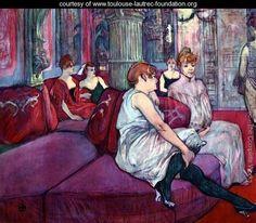 The Salon in the Rue des Moulins - Henri De Toulouse-Lautrec - www.toulouse-lautrec-foundation.org