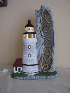 Ceramic Lighthouse by HPceramics on Etsy, $55.00