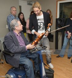Itzhak Perlman and David Garrett are seen as part of SiriusXM's 'Artist Confidential' series on SiriusXM Pops with special guest Itzhak Perlman on June 6, 2012 in New York City.