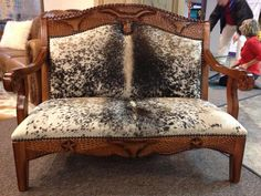 www.cowhidewesternfurniture.com  love, love, love this!  there's so much detail