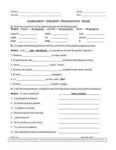 Printables 9th Grade Spanish Worksheets spanish colors and on pinterest worksheets printables present progressive worksheet