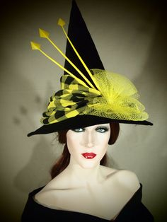 Couture Witch Hat Helga 21 One of a Kind by EvercrumblyAndWitch, $129.00