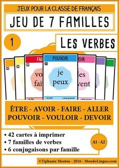 A brilliant way to incorporate learning with play. Teaching French, Teaching English, French Verbs, French Grammar, French Education, Kids Education, French Worksheets, Material Didático, French Tips