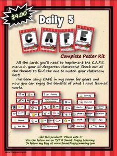 You've just found the best kit out there to help you implement CAFE in your classroom!I have used Daily 5 in my classroom for grades kinder, fi...