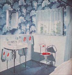 1952 Blue Bathroom by American Vintage Home, via Flickr