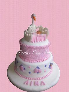 www.tartasconarte.com Tarta de Bautizo