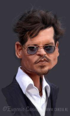 Johnny Depp by StudioCandia on DeviantArt Caricature From Photo, Caricature Artist, Caricature Drawing, Comic Drawing, Cartoon Drawings, Funny Caricatures, Celebrity Caricatures, Celebrity Drawings, Celebrity Photos
