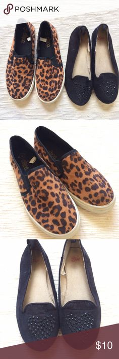 Girls shoe bundle Leopard print Circo slide ons and Gap loafers with crystal embellishments. Play condition because they are shoes. GAP Shoes