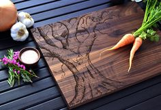 Personalized Wedding Gift, Custom Cutting Board, Cheese Board, Serving Board…