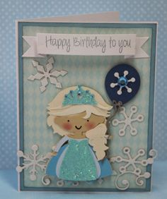 DT Post by Gwen - Beautiful Ice Princess birthday card! | My Craft Spot