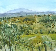 Tuscany Landscape .watercolour  - Felicity House