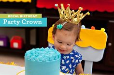 DIY Tutorial: Colorful Royal Party Crowns // Hostess with the Mostess® 1st Birthday Themes Girl, Baby Girl First Birthday, First Birthday Parties, First Birthdays, Kid Parties, Birthday Ideas, Happy Birthday, Princess Theme Party, Disney Princess Party