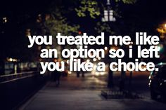 .... MY choice