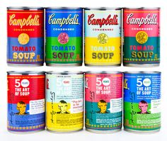 """haha! it comes around in a circle: """"Amazing! Campbell's Soup pairs up with The Andy Warhol Foundation for the Visual Arts to put Warhol's vision of the cans on the actual cans."""""""
